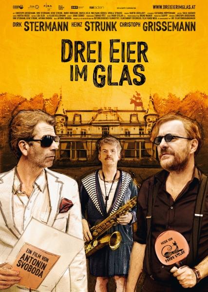 DREI EIER IM GLAS – Plakat